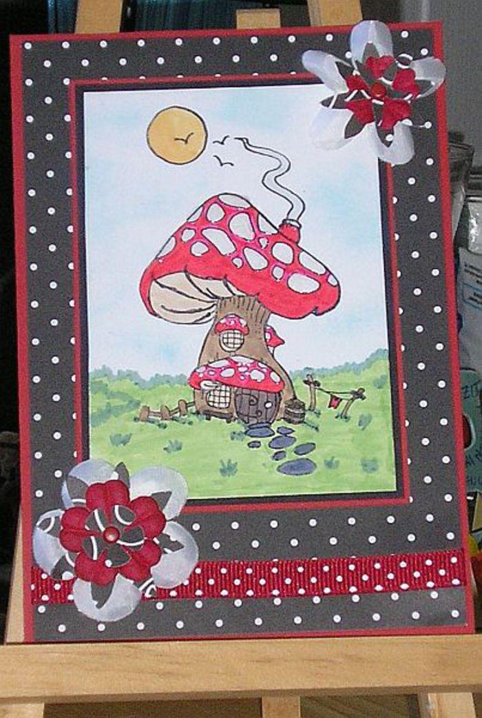 Ich Liebe Fliegenpilze Bastelideen Karten Bastelecke De
