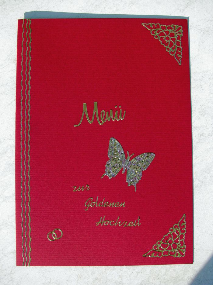 Einladungs Und Menuekarten Zur Goldenen Hochzeit