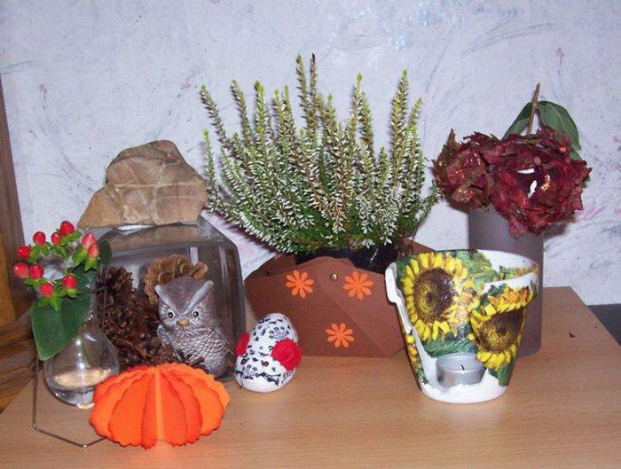 Herbstdeko mit erinnerungen bastelideen herbst - Herbstdeko mit erika ...