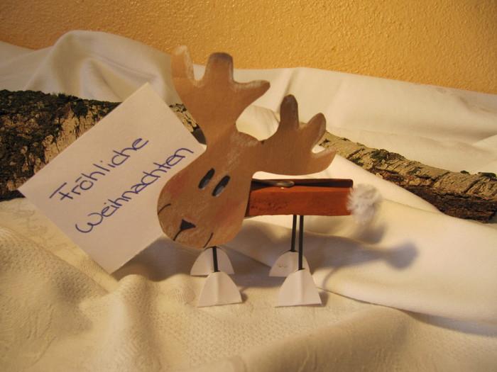 Elch Notizhalter Bastelideen Zu Weihnachten Basteln Zur