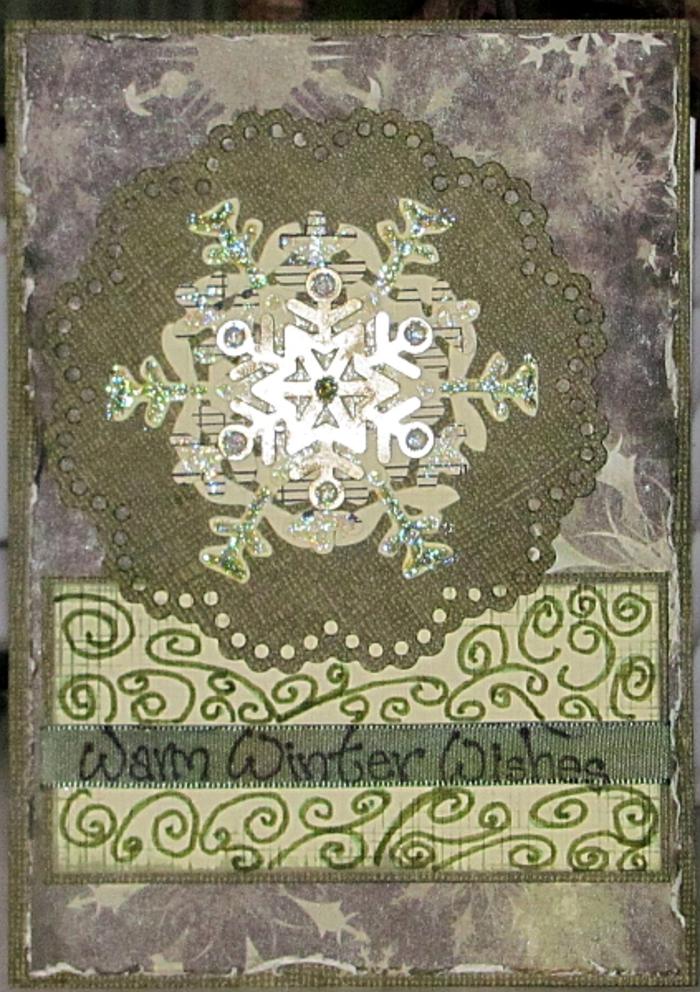 Abc Weihnachtskarten.Schneeflocken Weihnachtskarte In Grün Weihnachtskarten Karten