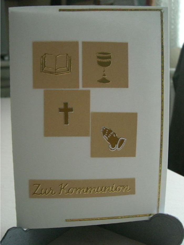 Karten Zur Erstkommunion Bastelideen Karten Bastelecke De