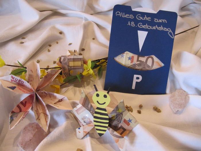 Parkscheibe Als Geldgeschenk Bastelideen Geldgeschenke